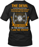 Awesome Mechanic I Am The Storm - Devil Whispered In Hanes Tagless Tee T-Shirt