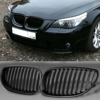For BMW E60 E61 M5 5Series 03-09 UK Front Black Wide Bumper Kidney Grilles Grill