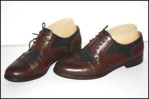 MANFIELD Derbies Femme vintage Cuir Bicolore T 36 TBE