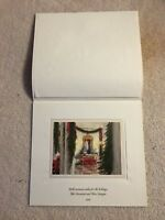 1988 Official White House Christmas Large Card / Print- President Ronald Reagan