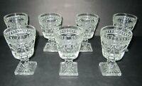 "COLONY ""PARK LANE"" WINE/ CORDIAL GLASSES set of 7"