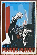 Vera Cortes En Las Manos Del Pueblo NYU Tishman Poster Serigraph 76 Puerto Rico