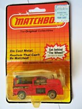 Matchbox Snorkel Fire Engine Mb 63 Metro Fire Dept Nip 1983 Free Shipping