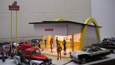 McDonalds 1960s Diorama 1/24 or 1/25 model cars & trucks custom crafted!!
