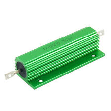 100W 0.5 Ohm Green Aluminum Housed Wirewound Resistors 2 Pcs BT