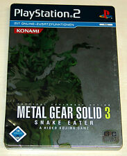 Metal Gear Solid 3-Snake Eater-Steelbook versión con manual PlayStation 2
