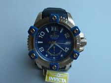 Invicta Men's 1727 Arsenal Reserve Blue MOP Dial Black Leather Watch