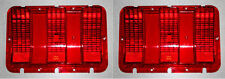 New! FoMoCo Logo 1967-1968 Ford Mustang Tail Light Lenses Pair Left and Right