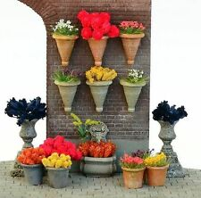 Reality In Scale 35194 Flower pot set 1:35 scale resin diorama accessory