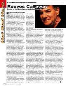 2005 REEVES CALLAWAY  ~  NICE HOT ROD HERO ARTICLE / AD