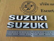 "SUZUKI GT550 GT380 GT250 GT185 A100 GP100 TANK EMBLEM ""SILVER"" 1 PAIR"