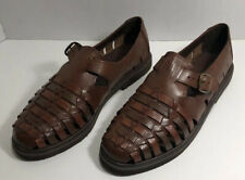 Stacy Adams Sandals Fisherman Men's Shoes Size 8M Brown Leather Weaved 23206-14