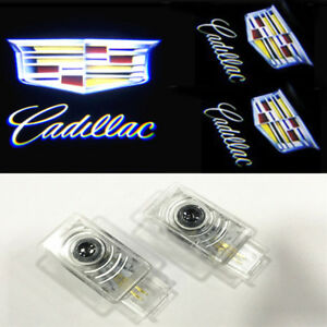 2 Led Door Lights Projector Shadow Laser Emblem For CADILLAC SRX ATS XTS CT6 CTS