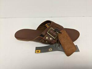 Caterpillar Verona Sandal, Brown Leather, Women's 8 M