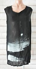 Ann Demeulemeester Tunic Dress Size 38 Medium Black White Sleeveless