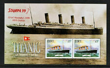 TITANIC   1999 IRELAND  DX198a  STAMPA  MEMBERS TITANIC MS SHEET - SCARCE