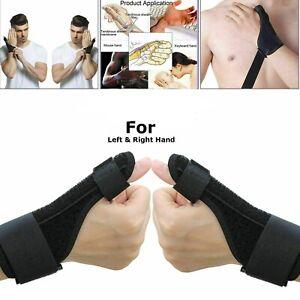 Black Thumb Spica Support Strap Brace Splint Tendonitis Sprain Arthritis Thumb.