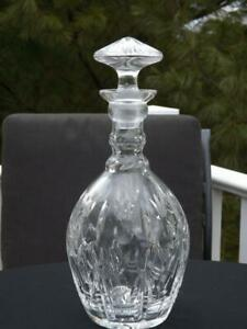 American Brilliant ABP Thumbprint Reed Pineapple Cut Glass Decanter w Stopper