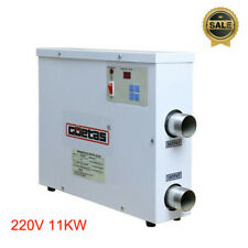 220V 11Kw Electric Water Heater Swimming Pool Spa Hot Tub Thermostat Us Stock