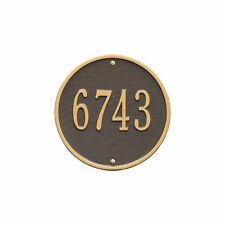 Whitehall Products Hawthorne Oval Plaque Address Number House