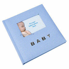 Baby Boy Blue 6x4 100 Photo Photograph Album Picture Book Chirstening New Gift