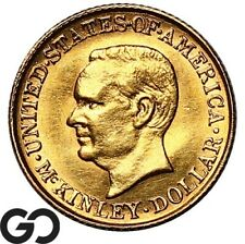 1916 $1 McKinley Commemorative Gold Dollar, Gem BU++