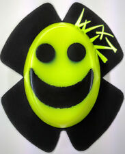SPARKY WIZ KNEE SLIDERS SMILEY FACE BLACK - VIZ YELLOW
