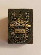 Letterpress Printing Press Block Rare Martin Volkswagen Crest Shield Seal
