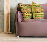 Indian Quilted Abstract Pillow Cover Case Cotton Handmade Cushion Cover Throw