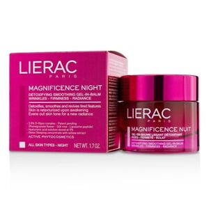 NEW Lierac Magnificence Night Detoxifying Smoothing Gel-In-Balm 50ml Womens Skin