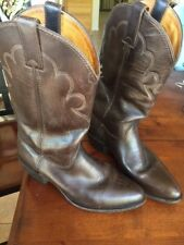 H.H. Brown, Dark Brown Western Cowboy Boots / Men's 8.5 M