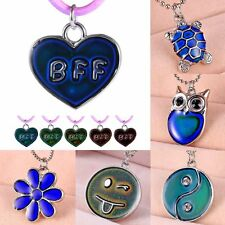 Women Sensitive Thermo Mood Color Change Chain Pendant Necklace Prom Jewelry New