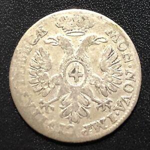 German States (Lubeck) 1732JJJ 4 Shilling Silver Coin
