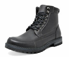 US Men's Motorcycle Combat Oxford Boots Zippe Leather Hiking  Round-toe Boots