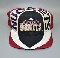 Denver Nuggets Twins Enterprise Vintage 90s NBA Swirl Snapback Cap Hat - NWT