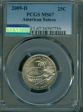 2009-D AMERICAN SAMOA QUARTER PCGS MS67 PQ 2ND FINEST MAC SPOTLESS *
