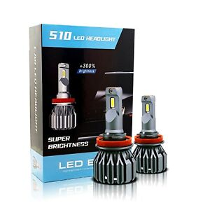 Fit Buick LED Headlight High Beam 6500K Xenon White 15000lm Super Bright