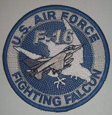US AIR FORCE F-16 FIGHTING FALCON Patch   4 inch round patch
