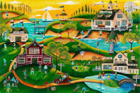 OrIgInAl FoLk ART PaInTiNg BaRn OcEaN GoLf CouRsE Red BaRn ClUb FrEE ShIPPiNg