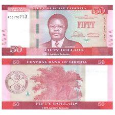Liberia 50 dólares 2017 P-NUEVOS BILLETES UNC