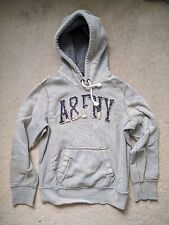 Abercrombie & Fitch A&F Hoodie Hooded Sweatshirt Gray Small Fits Medium Vtg Mint