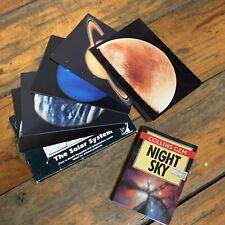 VINTAGE SET CSIRO PLANET & SPACE CARDS + COLLINS GEM 'NIGHT SKY' POCKET BOOK
