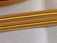 galon métal or, 15mm, grade, casquette militaire, couture, costume, vendu 62cm