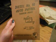 1954 Caterpillar 10 Tandem Drive Auto Patrol Parts Catalog Manual S/N 2K1-2K747
