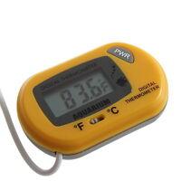LCD Digital Fish Aquarium Thermometer Water Terrarium FREE Extra Batteries YS