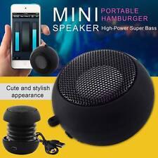 Mini Portable Speaker Travel Super Bass MP3 Amplifier Black For iPhone Samsung