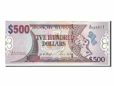 GUYANA 500 Dollars Sign 12 2002 P-34b UNC Uncirculated
