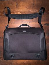 Tumi T3 Flip Flap Briefcase Laptop Bag Black Messenger Bag 06501D