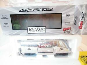 MTH TRAINS - 30-78061- COORS LIGHT SILVER BULLET OPER. REEFER TAIL CAR- NEW- A2