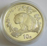 China 10 Yuan 1997 Panda Shenyang Mint (Großes Datum) 1 Oz Silber